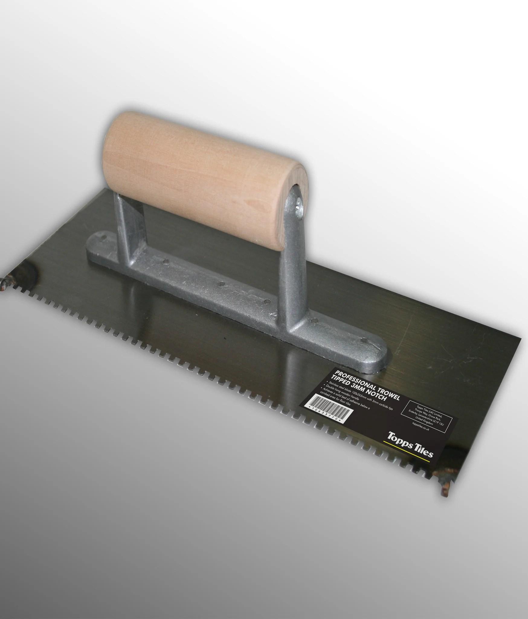 topps tiles pro trowel tipped 3mm notch