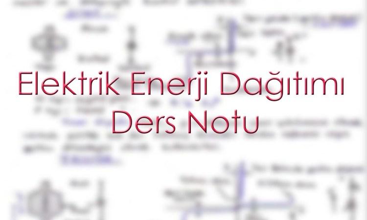 Elektrik enerji dağıtımı ders notu toprak hattı