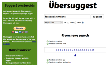 Ubersuggest News Keyword Research