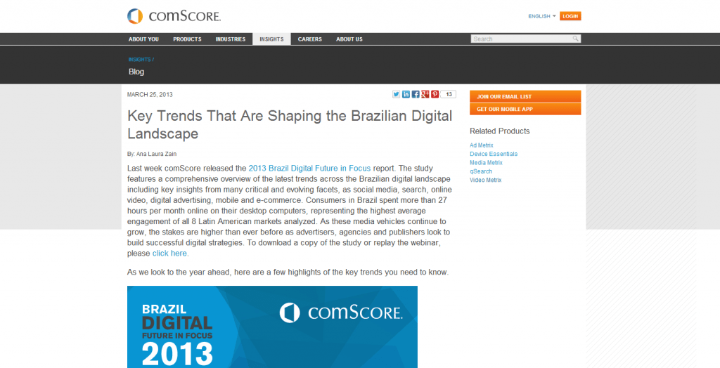 comScore corporate blog