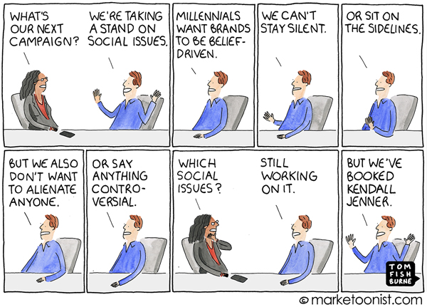 Brand Standing Marketoonist Cartoon