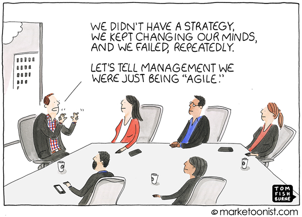 Being Agile Marketoonist Cartoon