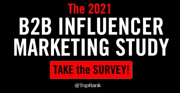 2021 B2B influencer marketing survey