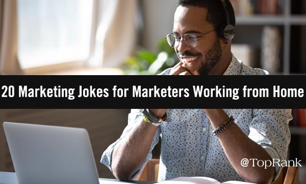 Laughing Man at Laptop Image