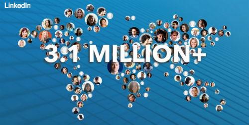 3.1 million marketers LinkedIn