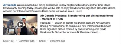 Air Canada LinkedIn