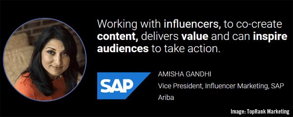 Amisha Gandhi of SAP Quote Image