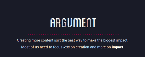 Argument for Better Content