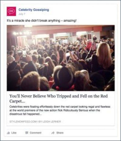 Celebrity Gossip Example