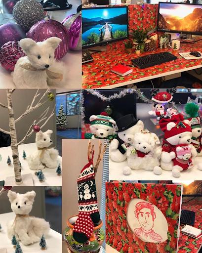 TopRank Marketing Holiday Desk Decorating Day