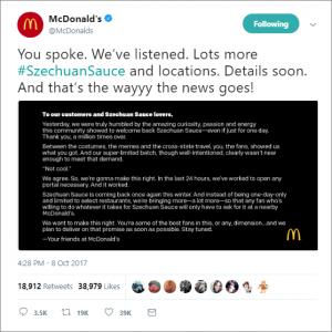 McDonald's & Szechuan Sauce