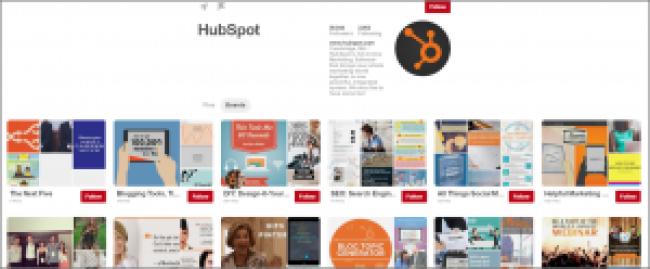Example of HubSpot on Pinterest