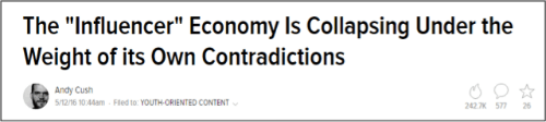 Influencer Economy