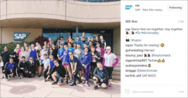 SAP Company Culture on Instagram