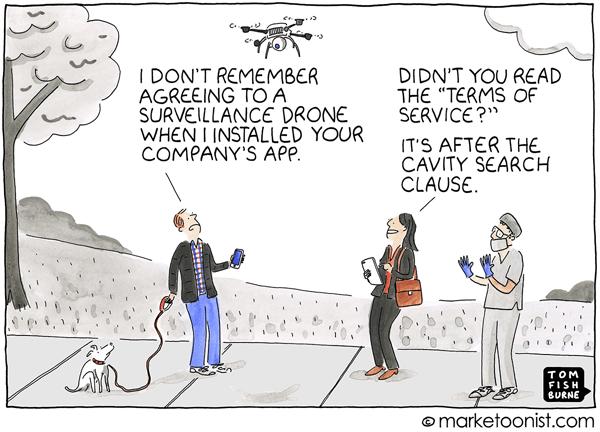 Marketoonist Personal Data Comic