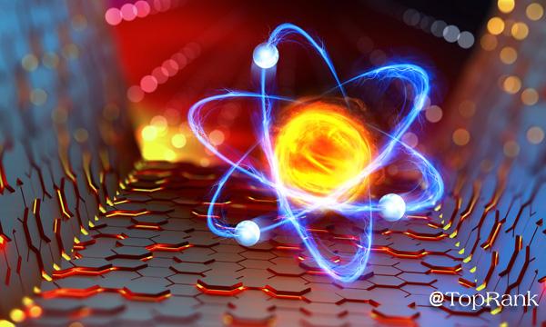 Colorful element particle image.