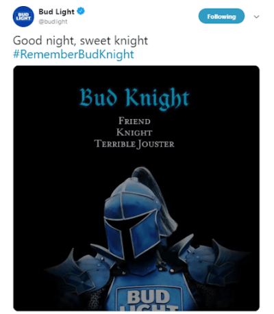Good Night Bud Knight