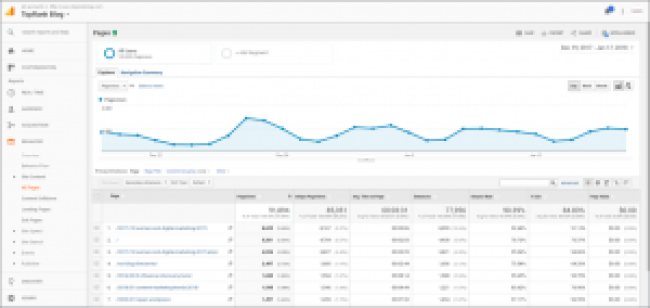 Snapshot of TopRank Marketing Google Analytics