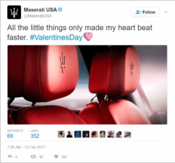 Maserati Valentine's Day Marketing