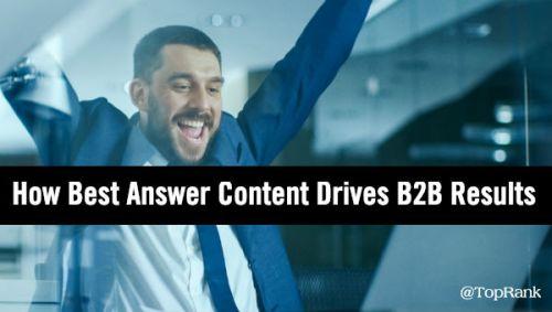 Best Answer Content B2B Marketing