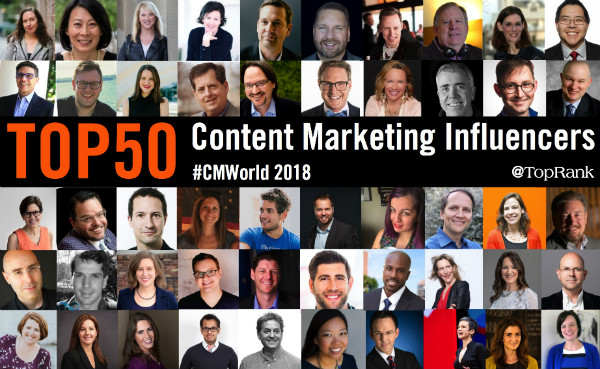 Content Marketing Influencers 2018