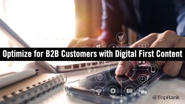 Contenu Digital First B2B