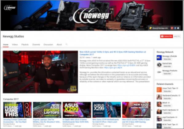 Newegg on YouTube