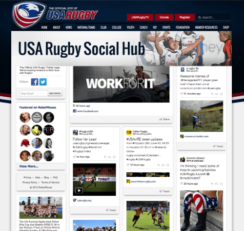 USA Rugby Social Hub
