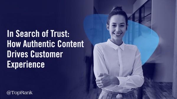 Expérience client de contenu authentique