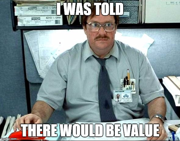 Milton from Office Space Lamenting Low Value Content Marketing