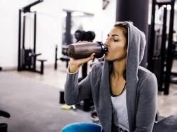 Hydrating before a fitness class