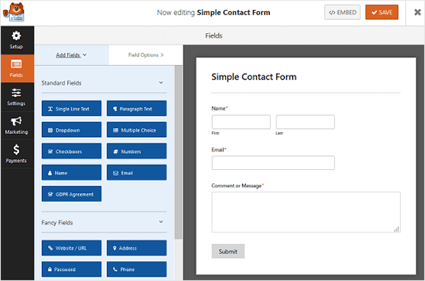 How to Create a Simple Contact Form in WordPress
