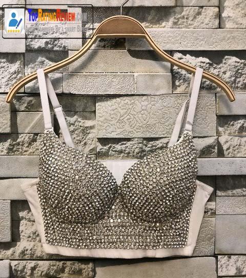 Diamond Beading sleeveless Top Bustier Plus Size Korean Bra