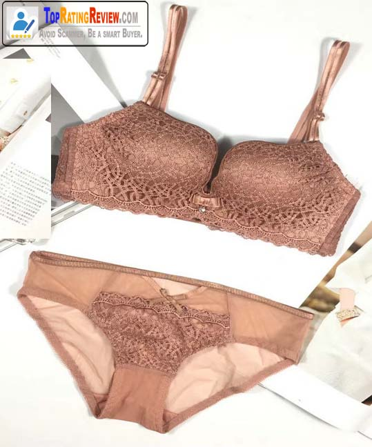 Double Shoulder Strap Mango Cup Korean Bra & Brief set