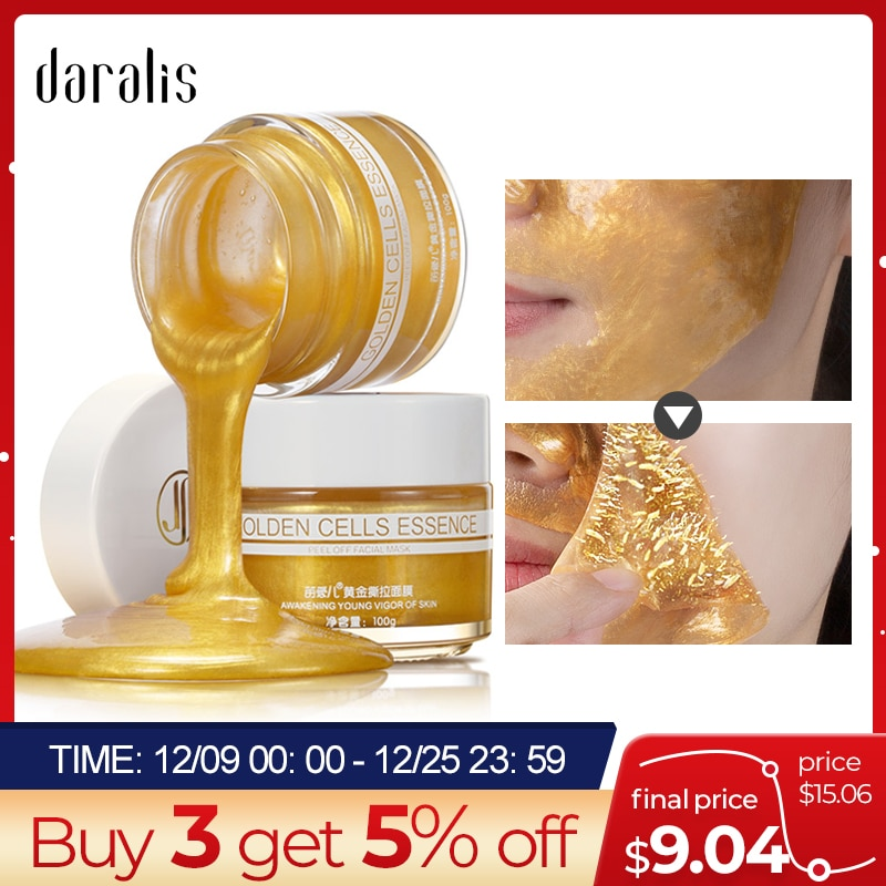 Daralis 100G Gold Tearing Mask for The Facial Peel Masks Blackhead Remover Peel Off Nose Dead Skin Clean Pores Face Skin Care on AliExpress