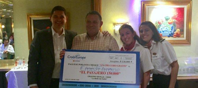 CroisiEurope recibe al pasajero número 150.000 de `La Belle de Cadix´