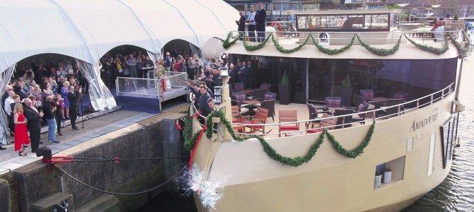 AmaWaterways recibe el AmaDouro y celebra su bautizo con su primera madrina británica