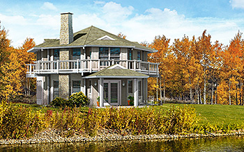 Two Story Octagon House Plans House Design Plans