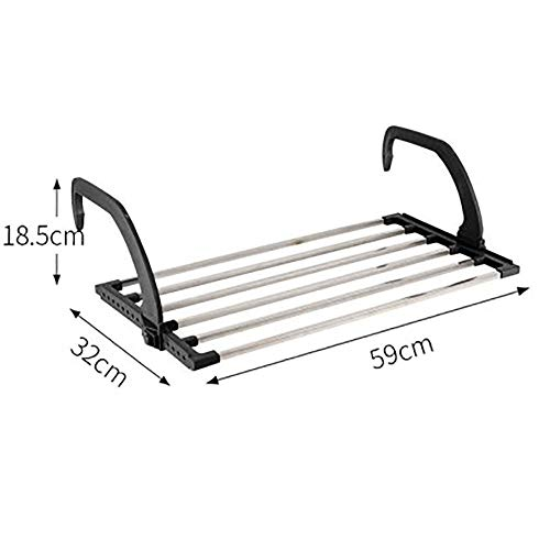 Liweibao Folding Clothes Hanger Rack Removable Retractable Clothes Drying Rack Hanging System for Space Saving for Bedroom Bathroom Balcony Indoor Outdoor Wall Mounted Clothes Hanger