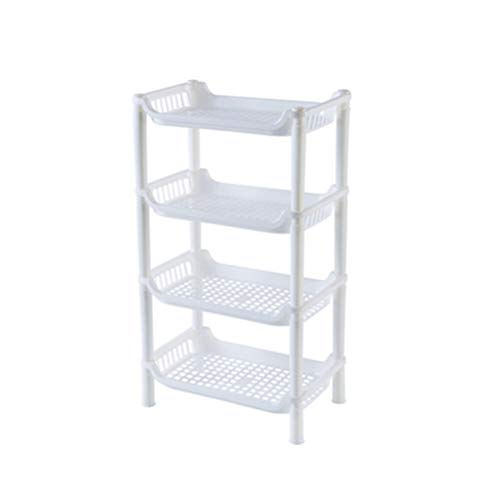 HFREOI Four Tiers Multipurpose Storage Shelf Plastic Storage Rack Organizer for Collection Toys Vegetables Food Toiletries Storage 108 x 67 x 187 inch