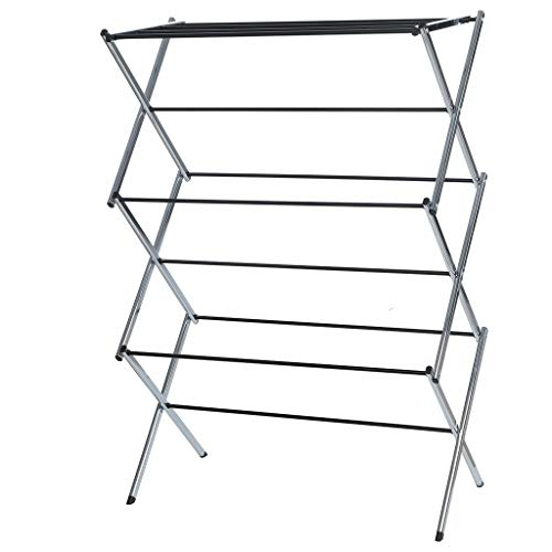 Clothes Drying Rack - Folding Laundry Dryer Hanger Compact Storage Indoor Outdoor - Stainless Steel Clothes Rack Heavy Duty Cloth Drying Stand