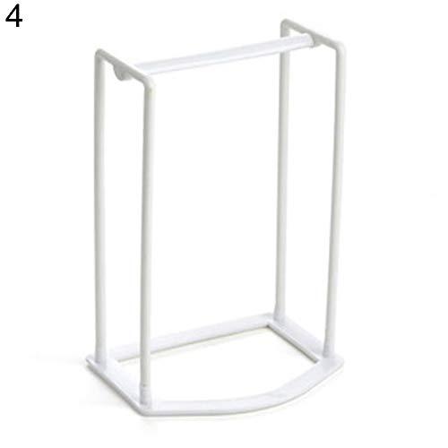 shlutesoy Practical Creative Plastic Clothes Hanger Storage Home Organizer Companion Rack - White