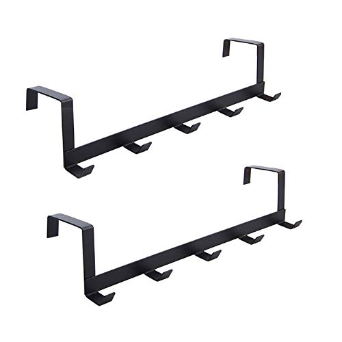 HWY 5 Hooks Back Door Coat Rack Wall-Hung Hangers Black