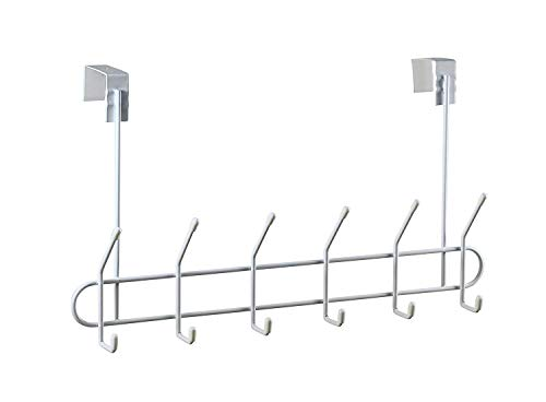 Spectrum Diversified Over the Door Coat Rack 6-Hook White