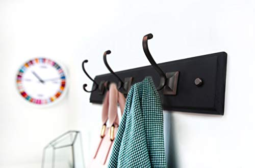 AXL 3 Retro Wall Mounted Coat Hook Rack Hat Hook Bath Towel Closet Clothes Hanger Garment Rack Holder Wall Mount Entryway Bathroom Bedroom Kitchen Home Office Storage Without Box