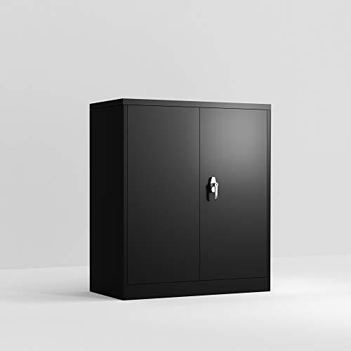 Steet Storage Cabinet with 2 Adjustable Shelves3 Point Lock Metal Storage Cabinet