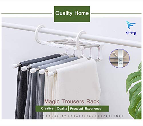 5-Layers Foldable Pants Rack Jeans Trousers Pants Hangers Multi Pant Hangers Multi Pants Rack