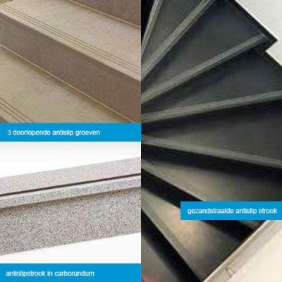 afwerking van trappen anti slip