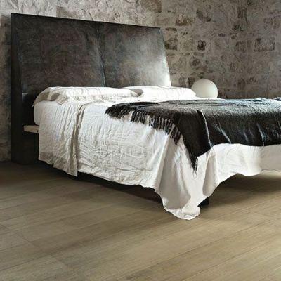 keramische parkettegels in de slaapkamer