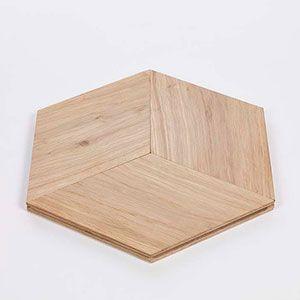 hexagonale parket tegels van lalegno